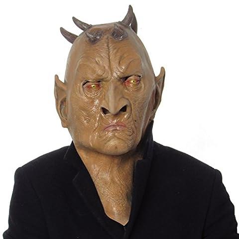 Devil Latext Mask Full Head Horn Realistic