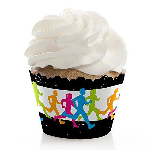 Big Dot of Happiness Set Die Pace-Laufen-Track, Cross Country oder Marathon Party Dekorationen-Cupcake Wrappers-Set von 12