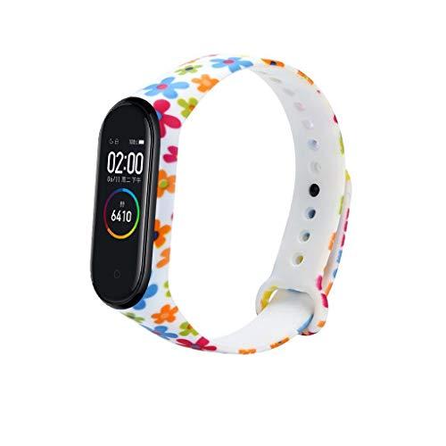 Sport Soft Silicone Band Strap für Xiaomi Mi Band 4, Weiches Silikon-Farbdruck-Wassertransfer-Ersatzband, Einstellbar Entfernen, 250mm