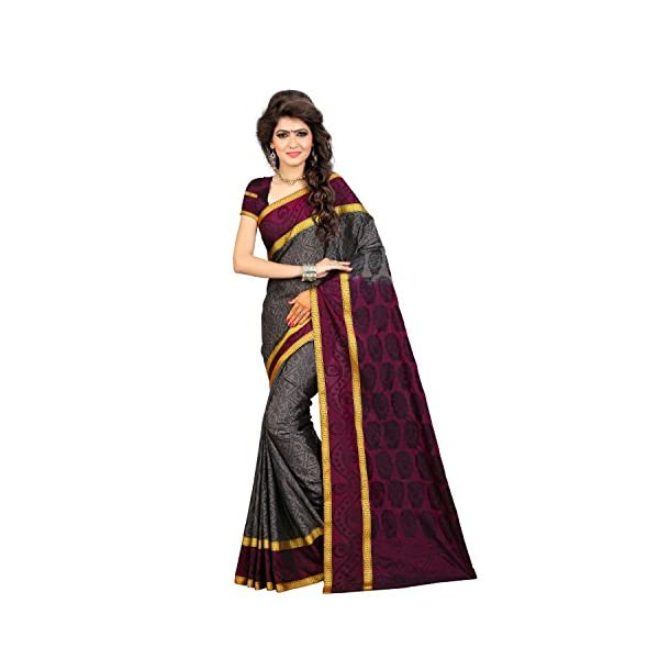 1898545f10 Arars Women's Kanchipuram Silk Saree With Blouse Piece (Nbb01 Grey_Grey)