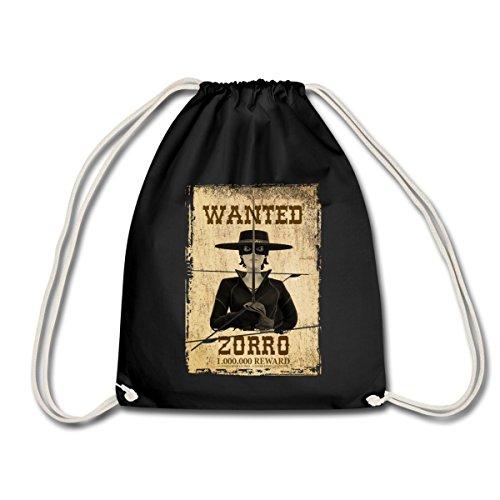 zorro-les-chroniques-avis-de-recherche-wanted-sac-de-sport-lger-de-spreadshirt-noir