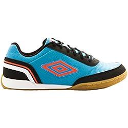Umbro Futsal Street V IC Bota, Hombre, Bluebird/Grenadine / Negro/Blanco, 42.5