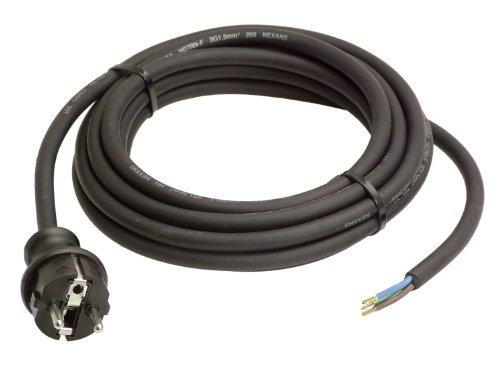 as - Schwabe 70910 Gummi-Anschlußleitung, 10m H07RN-F 3G1,5, schwarz, IP44 Gewerbe, Baustelle