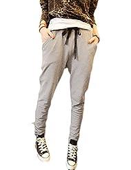 Minetom Mujeres Harén Pantalones Elástico Yoga Jogging Deportes Pantalones Ocio Casual Pantalones