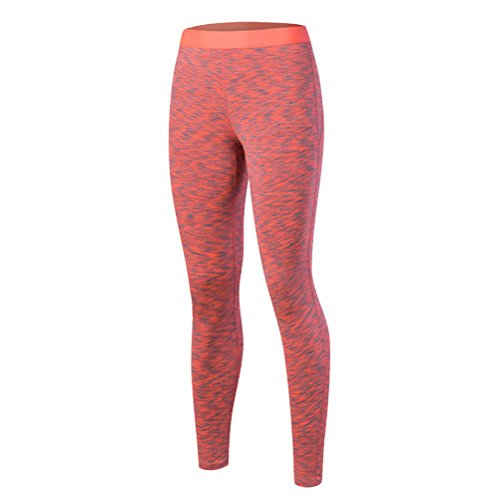 Zhhlaixing Fashion Women's Tights Yoga Sports High Waist Elasticity Fitness Pants red