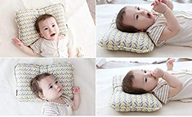 Baby Pillow Head Shaping | Newborn Pillow for Sleeping | Breathable & Washable Prevent Flat Head Infant Pillow | Include Baby Shower Gift 2 Baby