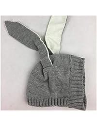 1fcea74b312 Casquette enfant Oreilles de lapin mignon Style Cap Tricot Garder Chaud  Fétal Cap Manches Cap pour