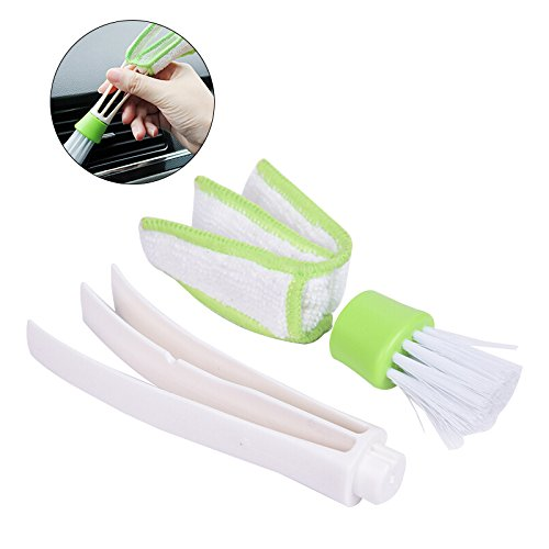 Quick Cleaner (WINOMO Duster Double Ended MicroFiber Vent Duster Pinsel für Computer Keyboards Lüfter Klimaanlage Car Air Outlets Quick Cleaner mit abnehmbarem Tuch Abdeckung Tragbares Präzisions-Staubwerkzeug)