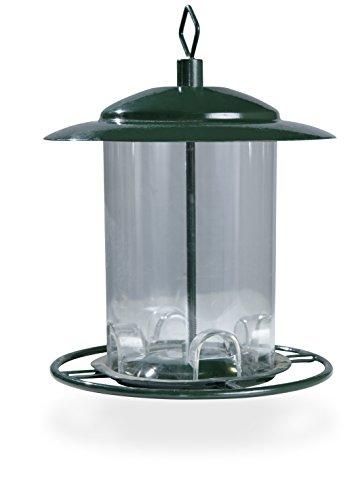 Windhager Vogelfuttersilo COMPACT, Futterstation Vogelfuttersäule Futterspender, aus Kunststoff/Metall, abnehmbares Dach, 06931