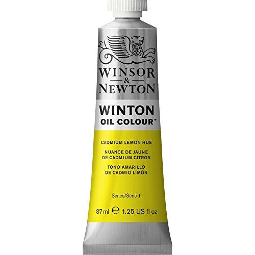 Winsor & Newton 1414087 Winton, feine hochwertige Ölfarbe - 37ml Tube mit gleichmäßiger Konsistenz, Lichtbeständig, hohe Deckkraft, Reich an Farbpigmenten - Kadmium Gelb Zitrone Farbton