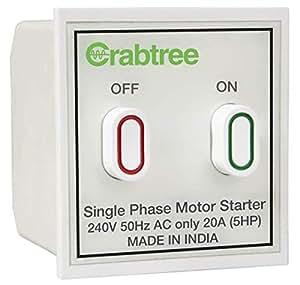 Cool Havells Crabtree Athena 20A Motor Starter Switch White Amazon In Wiring Digital Resources Sapredefiancerspsorg