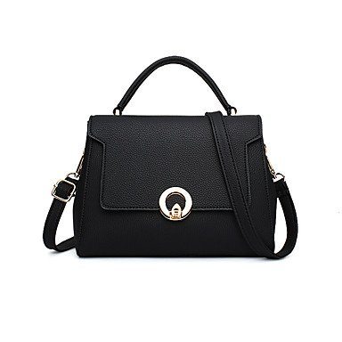 La mode féminine en cuir PU Messenger Sacs à bandoulière sac à main Tote,Black/