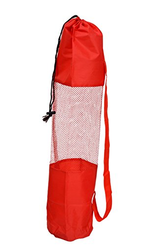 AmazingHind-Yoga-mat-cover-Fitness-Carrier-Nylon-Mesh-Center-Strap-Colour-Red-Please-note-This-product-contains-only-Yoga-Mat-cover