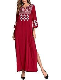 Zhuhaitf Moda Modesta Largo Vestido árabe Vestido de Fiesta Abaya Ropa Islámica Señoras Niñas Caftanes /