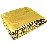 SODIAL 210 * 130 cm Manta de supervivencia de emergencia / Manta de aislamiento externo de rescate Oro