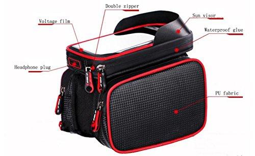 Tasche Fahrrad-auf das Paket Fahrrad Berg-Wasserdicht vorne Tasche Lichtstrahl Tasche Handy-Rucksack Reitstiefel Ersatzteile Rot