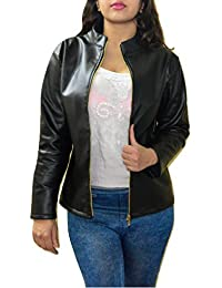 Magna Women Black Faux Leather Bomber Jacket Size Small And Medium Only