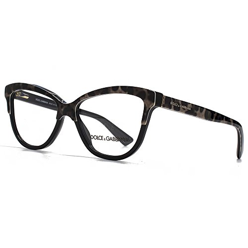 Dolce & Gabbana Für Frau 3229 Leopard / Black Kunststoffgestell Brillen, 52mm (Dolce Leopard Gabbana)