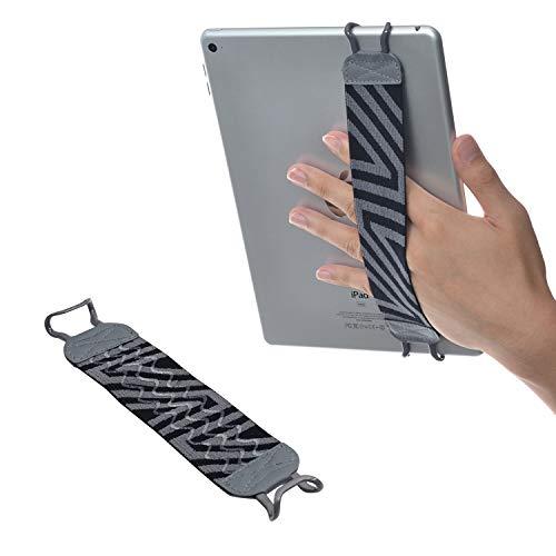 TFY Handschlaufe mit Silikon für Tablets, iPad, E-Reader, iPad Pro, iPad, iPad Mini 4, iPad Air 2, Samsung Galaxy Tab & Note, Google Nexus, Asus Transformer Book und mehr, Grau - Handschlaufe Ipad Air