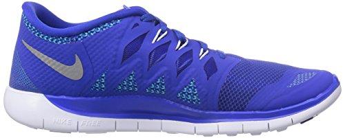 Nike Free 5.0 (Gs) Sneakers, Bambini E Ragazzi Blu(Blau (Lyn Blue/Mtllc Slvr-Bl Lgn-Blk))