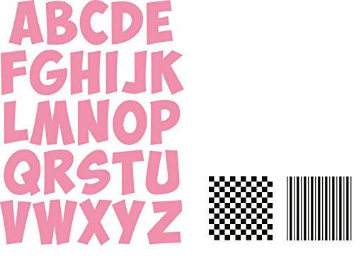 Marianne Design MDCOL1350 Alfabet Collectables Stanzen, Metall, rosa, 17.1 x 14.6 x 0.4 cm (Buchstaben Stanzen)