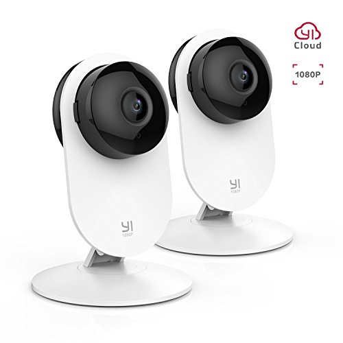 YI 2pc 1080P Home Camera Wireless Indoor Security IP Camera with Night Version Motion Detection Two Way Audio Home Security Surveillance System for Home/office/Baby/Pet/Remote Monitor