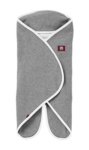 RED CASTLE Babynomade Couverture Bébé Double Polaire Gris Clair/Blanc 6-12 Mois