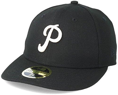 New Era Philadelphia Phillies Chain Stitch LP 59FIFTY Fitted MLB Cap Schwarz, 7 Stitch Fitted Cap