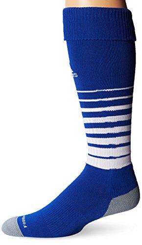 adidas Team Speed Soccer Sock, Cobalt/White, Large (Sock Elite Adidas)