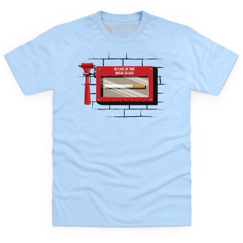 Emergency Cigarette T-Shirt, Herren Himmelblau