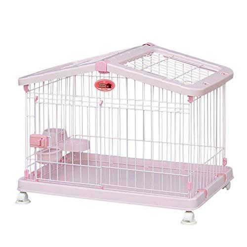 Bonwg Perro Jaula Perro Pequeño Y Medio con Inodoro Jaula De Gato Pet Interior Perro Jaula,Pink