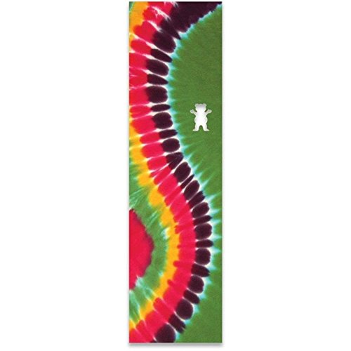 Grizzly Griptape: Curved Tie-Dye Green -