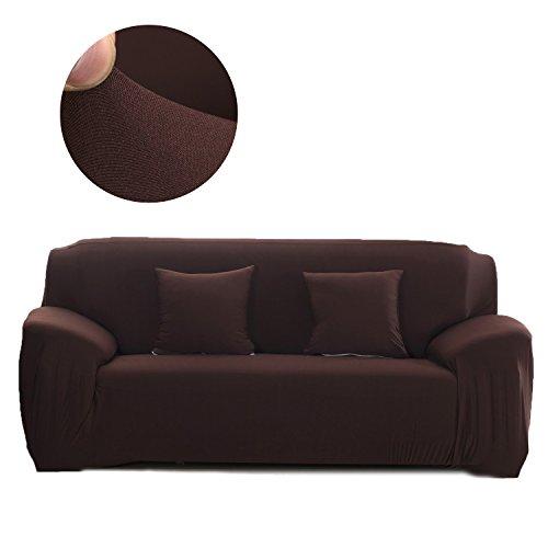 Cornasee copridivano elasticizzato 3 posti,fodera per divano con corda fissa,caffè