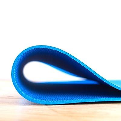 Fitnessmatte / Yogamatte für angenehmes und gelenkschonendes Training (dünn & extra leicht) Latexfrei, geruchsarm, Ideal für Yoga, Pilates, Gymnastik, Workout oder Bodyweight Training