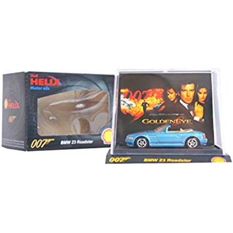 SUPER RARE COLLECTABLE Shell Helix Exclusive James Bond 007 Diecast Limited Edition Toy Car Movie Models (BMW Z3 Roadster Goldeneye), [Importado de UK]