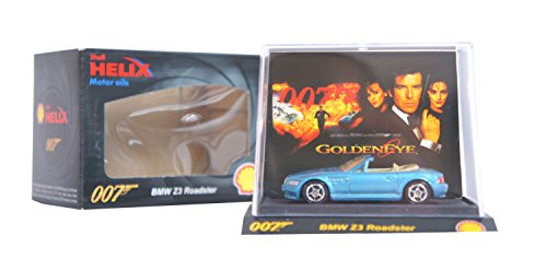 SUPER RARE COLLECTABLE Shell Helix Exclusive James Bond 007 Diecast Limited Edition Toy Car Movie Models (BMW Z3 Roadster Goldeneye)