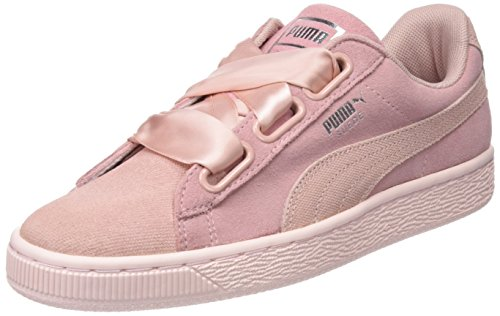 Amazon Puma Suede Heart Pebble Wn's, Zapatillas para Mujer, Beige (Peach Beige-Pearl), 41 EU