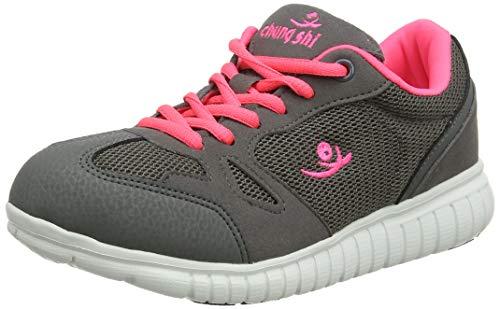 Chung Shi Unisex-Kinder Dux Free Kids Savannah Sneaker, Mehrfarbig (Grau/Pink 8800870), 20/21