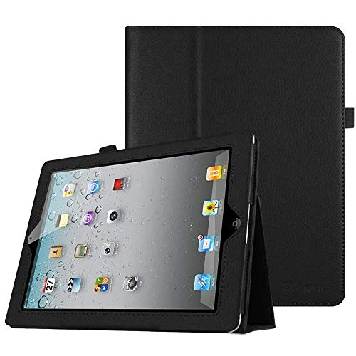 Fintie iPad 2/3 / 4 Hülle Case - Folio Slim Fit Kunstleder Schutzhülle Cover Tasche Etui mit Auto Schlaf/Wach Funktion für Apple iPad 2 / iPad 3 / iPad 4, Schwarz (Air Ipad Ersatz-bildschirm 2)