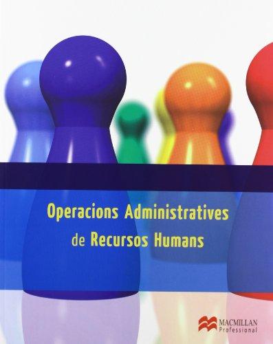 Operac Admin Recursos Human Cat 2013 (Gestión Administrativa) por Miguel Angel Iglesias Prada