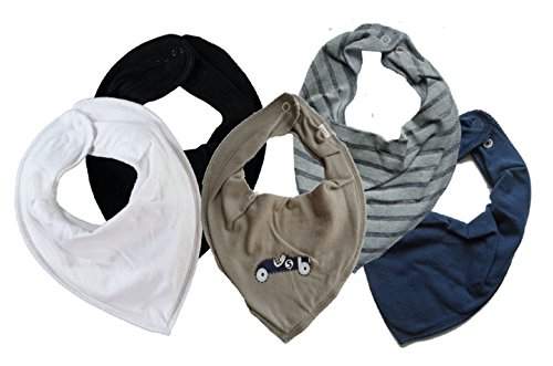 Name it Jungen 5er Set ~ zur Auswahl ~ Baby Dreieckstücher Halstuch Lätzchen 5 Stück ★ zur Auswahl verschiedene Designs (Rennwagen Nr.5) (Halstuch Set)