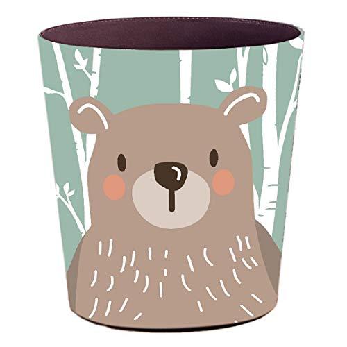 GODNECE Wasserdichte Papierkorb Tiere 10L Papierkorb Leder Papierkörbe für Kinder Aufbewahrungsbox für Kinder Tiere