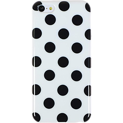 PhoneNatic Case für Apple iPhone 5c Hülle Silikon Design:01 Polkadot Cover iPhone 5c Tasche + 2 Schutzfolien Design:06