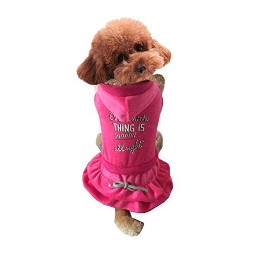 Ninasill ღ ღ Puppy Haustiere Kleidung Cupcake Kleid Dekoration Hund Kleidung Casual Large Hot Pink Cupcake-hoodie