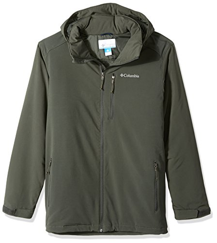 Columbia Herren Grid (Columbia Men's Big and Tall Gate Race Softshell Jacket, Gravel, 3X)