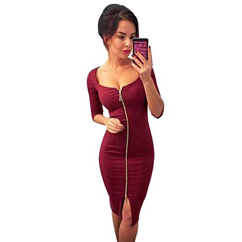 VJGOAL Damen Sexy Kleider Party Abendkleid Reißverschluss Büro Tragen Kleid Abend Partykleid Kleider Hüfte ()