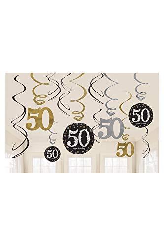 amscan 670479Girlanden-Dekoration zum 50. Jahrestag, Vorteilspack (50-geburtstag-dekorationen Für Ihr)