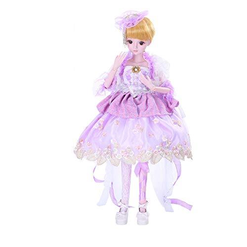 MEMIND Bjd Nach Maß Puppe Lila Kleid Vollen Satz Gemeinsame Baby Spielzeug Puppe Austauschbare Kleidung Frisur Zubehör Kind Spielkamerad