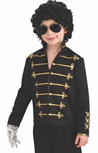 Rubie 's Offizielles Michael Jackson schwarz Military Jacke, Kinder - Kids Michael Jackson Kostüm