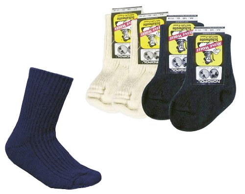 socksPur 100% reine Schurwolle-Söckchen für Babys und Kinder, 1 Farbe im 2er-Bündel. (74-80, marine)